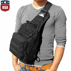 """Men exterior Shoulder Chest Bag Military Tactical Backpack Travel Camping Hiking View """"Men Outdoor Shoulder Chest Bag Military Tactical Backpack Travel Camping Hiking"""" on eBay Price: 12.34 Payments: Ends on : 2021-10-26 08:15* that are:02( The post Guys Outdoor Shoulder Chest Bag Military Tactical Backpack Travel Campi… appeared first on BookCheapTravels.com."""