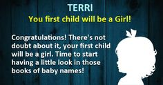 Will your first child be a boy or a girl?
