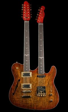 Fender Custom Shop John Cruz Masterbuilt Double-Neck Telecaster NOS in Amber Burst