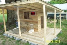 dog house with corrugated clear roof - Google Search