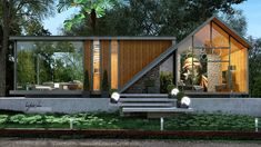 Architecture Discover Natural Modern Private Cottage Natural Modern Private Cottage on Behance A Frame House Plans, Unique House Design, Forest House, Villa Design, Architect House, House In The Woods, Home Fashion, Building Design, Exterior Design