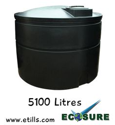 5100 Litre Ecosure Water Tank - Ideal for rainwater harvesting and general water storage. http://www.etills.com/acatalog/Ecosure_5000_Litre_Water_Tank.html