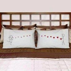 """BoldLoft """"From My Heart to Yours"""" Couple Pillowcases-Valentines Day Gifts for Him for Her,Valentines Day Gifts for Girlfriend Boyfriend,Cute Couple Gifts,Romantic Anniversary Gifts,Wedding Gifts for Couple:Amazon:Home & Kitchen"""