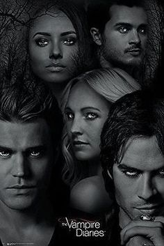 The Vampire Diaries Poster Faces Cast TV Show Series Print Wall Art Large Maxi