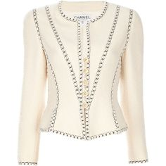 CHANEL VINTAGE Wool jacket and other apparel, accessories and trends. Browse and shop 8 related looks.