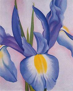 Georgia O'Keeffe. Lavender Iris 1951