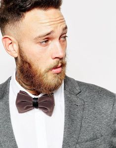 Top your look off with a cozy bow tie.