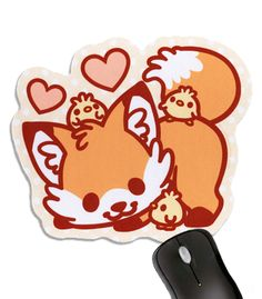 Doki Fox Mousepad - I really need a mousepad and this is adorable :3