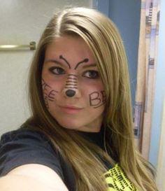 "cute ""bee"" makeup"