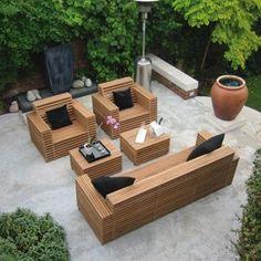 Salon de jardin bas en bois Cosmos | jardin | Pinterest | Cosmos and ...