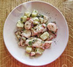 Marinated octopus salad at Artusi