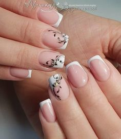 19 Easy and Beautiful Nail Art Designs 2018 just for you trendy nail designs attracted the craze of most women and girls. Nail Art Designs offers a multitude of v … Nail Styles Source by Nagel Blog, French Tip Nails, Rhinestone Nails, Nail Decorations, Beautiful Nail Art, Easy Nail Art, Simple Nails, Manicure And Pedicure, Halloween Nails