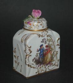 RARE Antique German Meissen Porcelain Perfume Scent Bottle Figural Rococo Scene   eBay