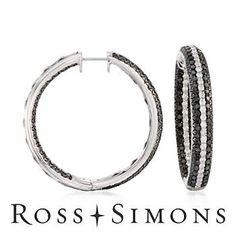 Black #Diamond Hoops