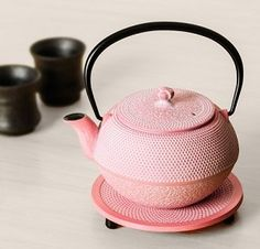 cute pink iron kettle