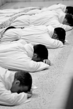Surrender to Christ and the service of His Church: prostration before priestly ordination.