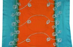 Vintage Long Scarf Indian Dupatta Women Wrap Deco by VintageHaat