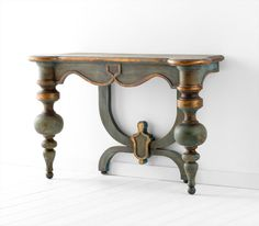 Buy the Cyan Design 05695 Antiquarian Blue Direct. Shop for the Cyan Design 05695 Antiquarian Blue Lacroix Console Table and save. Table Furniture, Cool Furniture, Painted Furniture, Furniture Design, Contemporary Furniture, Furniture Ideas, Glass Furniture, Living Furniture, Furniture Stores