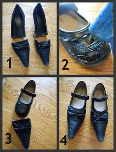 Tutorial sapato de Bruxa, para criança
