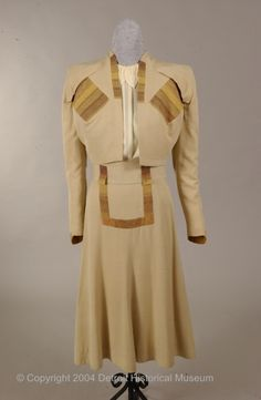Suit    Gilbert Adrian, 1946-1948    The Detroit Historical Museum Costume Collection