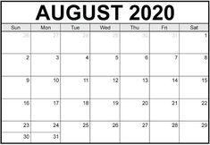 August 2020 Blank Calendar PDF Blank Calendar Pdf, August Calendar, Calendar Pages, Monthly Calendars, Daily Schedule Printable, Calendar 2019 Printable, Excel Calendar, Calendar Templates