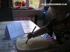 mark making with pencils developing preschool writing skills