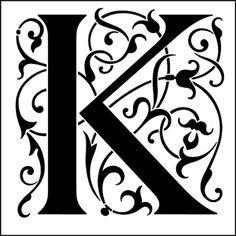 Renaissance Initials stencil from The Stencil Library GENERAL range. Buy stencils online. Stencil code 308K.