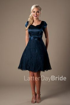 Modest Prom Dress | LatterDayBride & Prom | SLC | Utah | Worldwide Shipping | 2017 Styles | This gown features a light lace skirt and flattering bodice.     Dress available in Aqua or Royal    *Shown in Royal.