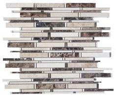"Brown and Beige Matte Random Brick Pattern Marble Stone Tiles Product Description Sheet Size: 14 1/4"" x 12 x 3/8"" Tile Size: Random Finished: Polished HTCESMA2"