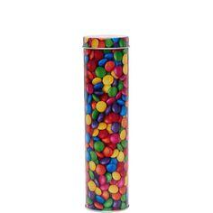 SWEETS Dose Schokolinsen    Wenn Sie von Süßigkeiten nie genug kriegen können, ist die Sweets-Serie für Sie der reinste Genuss. Dosen und Eimer sind mit allerhand Leckereien verziert und machen Appetit beim Servieren und Aufbewahren. Hinzu kommen die Sweets-Dosen in Bärenform, die Ihnen auch noch das Verpacken und Verschenken versüßen. Wer kann da schon widerstehen?    Größe: Höhe 20,8 cm, Ø 5,...