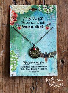 Kelly Rae Roberts Necklace Birthstone-January**