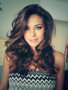 Splendid Blow Out Hair – Medium long blow out for curl glam hair. Love those waves. Cute hairstyles for medium length hair. The post Blow Out Hair – Medium long blow out for curl glam hair. Curled Hairstyles, Pretty Hairstyles, Girl Hairstyles, Popular Hairstyles, Wedding Hairstyles, Flapper Hairstyles, Brunette Hairstyles, Simple Hairstyles, Holiday Hairstyles