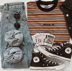 Some of My Favorite Vintage Outfits - and . Cute Casual Outfits, Edgy Outfits, Mode Outfits, Grunge Outfits, Fall Outfits, Summer Outfits, Aesthetic Fashion, Aesthetic Clothes, Look Fashion
