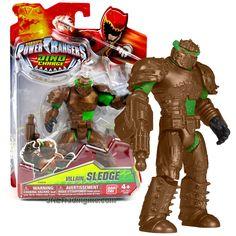 "Bandai Saban's Power Rangers Dino Charge Series 5"" Tall Figure - Villain SLEDGE with Blaster"