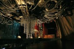 "Chandelier being a part of the scenography of ""The Phantom of the Opera"" in Roma Musical Theatre"