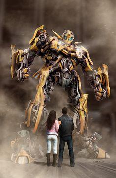 Transformers art by Josh Nizzi