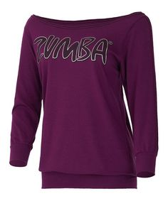 Take a look at this Plum Flare Headliner Top by Zumba® on #zulily today!
