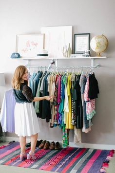 Chic and Practical DIY Clothes Racks That Put Your Wardrobe On Display