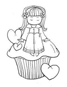 cupcake menina
