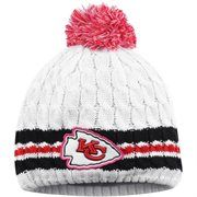 Women's San Diego Chargers New Era Gray/Pink Breast Cancer Awareness Knit Beanie