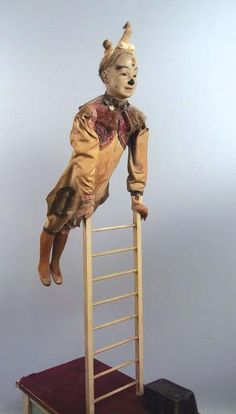 Lombrail-Teucquam / « Clown on Ladder » French made automaton by Gustave Vichy