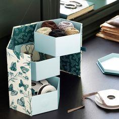ANILINARE アンニリナレ デコレーションボックス - グリーン, バタフライ 紙 - IKEA