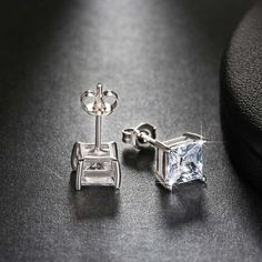 Cool Diamond Earrings Trendy Earring Stud with 0.8 ct Simulated Diamond AAA Cubic Zirconia Earring For...