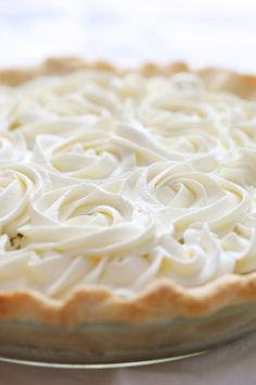 Fresh Coconut Cream Pie - about as fresh as you can get since you have to whack open a whole coconut and shred the inside of it. COMPLETED