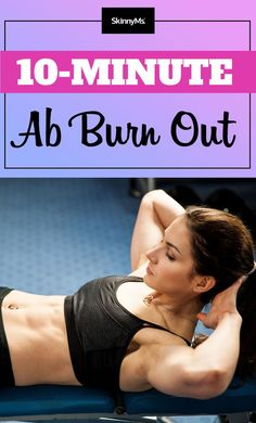 Get sexy flat abs fast with this 10-Minute Ab Burn Out #abworkout #flatabs | www.skinnyms.com