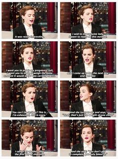 "Emma Watson on David Letterman ""you only faked it"" haha!!"