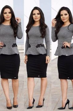 Love this business casual outfit! Casual Work Outfits, Office Outfits, Work Attire, Work Casual, Cute Outfits, Work Fashion, Modest Fashion, Fashion Outfits, Skirt Outfits