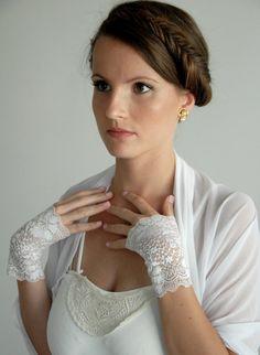 Weiße Hochzeits Achselzucken 4 Optionen Wrap-Schal von noavider