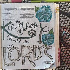 A closeup of Obadiah. Scripture Study, Bible Art, Bible Verses, Lamentations, Psalms, 1 Chronicles, Illustrated Faith, Old Testament, Bible Journal