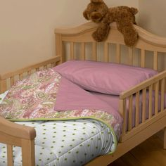 Lime And Pink Paisley Toddler Bedding